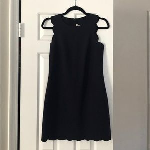 JCrew Navy Scallop Dress